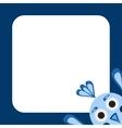 Frame with a funny blue bird vector
