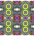 Geometry vintage floral seamless pattern vector