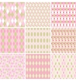 Seamless abstract retro pattern set of 9 geometric vector