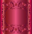 Vintage royal background dark pink floral luxury o vector