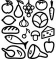 Set of food ingredient vector