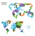 Abstract color map of world vector