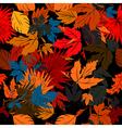 Autumn bed vector