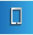 Icon smartphone background vector