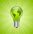 Light bulb earth icon vector