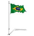 Flag pole brazil vector