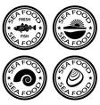 Sea food stamps vector