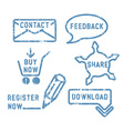 Simple contact feedback share buy download vector