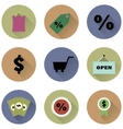 Set of round icons for a shop vector