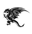 Angry black dragon vector