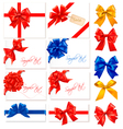 Big collection gift bows vector