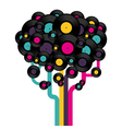 Vinyl record tree vector