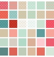 Seamless abstract retro pattern set of 36 polka vector