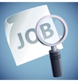 Concept - job searching vector
