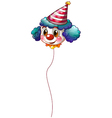 A clown balloon with a hat vector