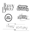 Set of happy birthday lettering vector