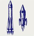 Retro rocket vector