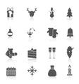 Christmas icons set black vector