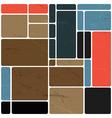 Abstract block design template vector