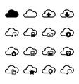 Cloud storage icons set vector