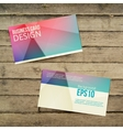 Business card on the wooden table vector