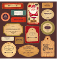 Collection of xmas labels vector