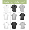 Black and white men polo shirt vector