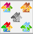 Puzzle house vector