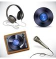 Music equipment set vector