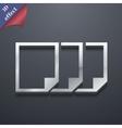 Copy file icon symbol 3d style trendy modern vector