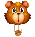 A brown bear balloon vector