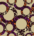 Seamless circle pattern geometric background vector