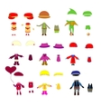 Set of childrens clothes design elements vector