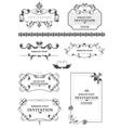Vintage border frames vector