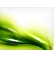 Green summer wave - business eco background vector