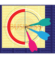 Dartboard and target vector