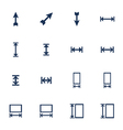 Resize icons vector