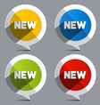 New circle labels - stickers vector