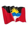 Political waving flag of antigua and barbuda vector