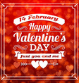 St valentines day card design abstract background vector