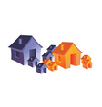 Abstract house design vector