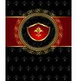 Vintage post mark with heraldic elements - vector