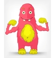 Funny monster diet vector