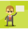 Funny cartoon manager in various poses vector
