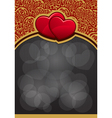 Valentines day background with two heart eps10 vector