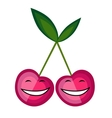 Funny fruits smiling together for your design vector