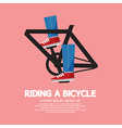 Legs spin pedals vector