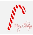 Christmas cane merry christmas lettering flat vector