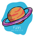 Planet drawn vector