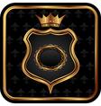 Elegant gold heraldry frame - vector